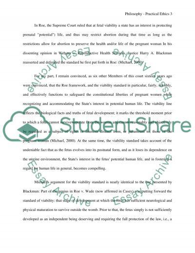 Philosophy - Practical Ethics essay example