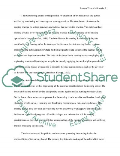 The Role of Nursing essay example