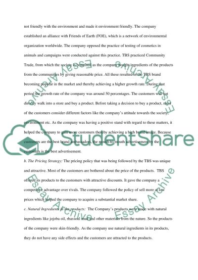 the lies of the body shop essay The body of the essay the function of the essay's body is to fully develop the argument outlined in the introduction each paragraph within the body of the essay.