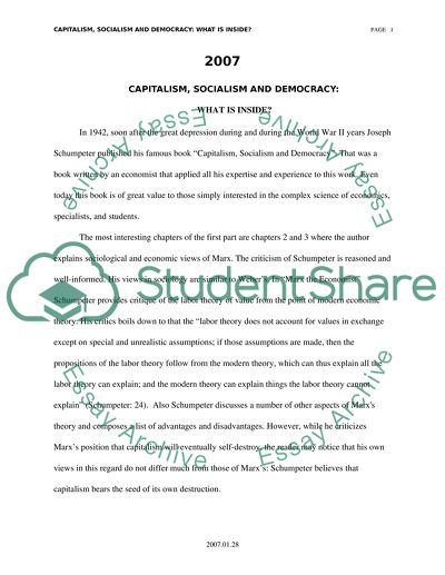 Proposal Essay Ideas Review To The Book Capitalism Socialism And Democracy Teaching Philosophy Essay also Essay Of Newspaper Review To The Book Capitalism Socialism And Democracy Essay Essays On Reading
