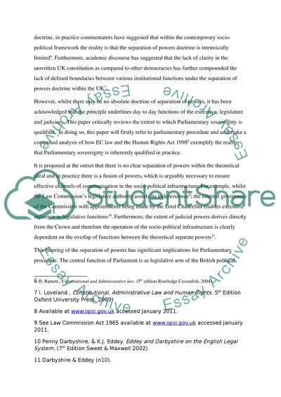 Spm English Essay Public Law  Parliamentary Sovereignty Research Essay Thesis Statement Example also Global Warming Essay In English Public Law  Parliamentary Sovereignty Essay Example  Topics And  Essay On Myself In English