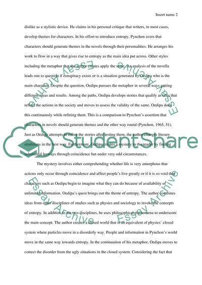 The crying of lot 49 essay