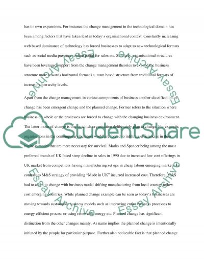Stategy And Change essay example