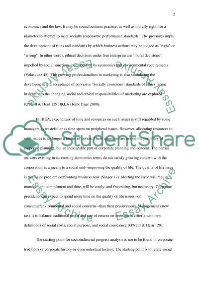 Essay Of Science Ikea Business Ethics Dilemma Essay Example Thesis Statement Essay also Essay Vs Research Paper Ikea Business Ethics Dilemma Case Study Example  Topics And Well  Essay Writing Business