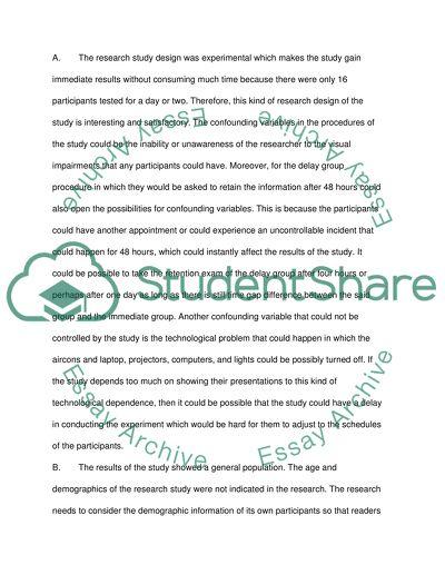 memory research paper