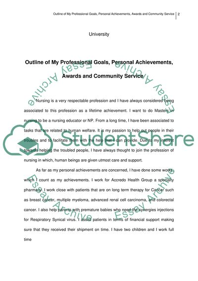 Scholarship essay about community service