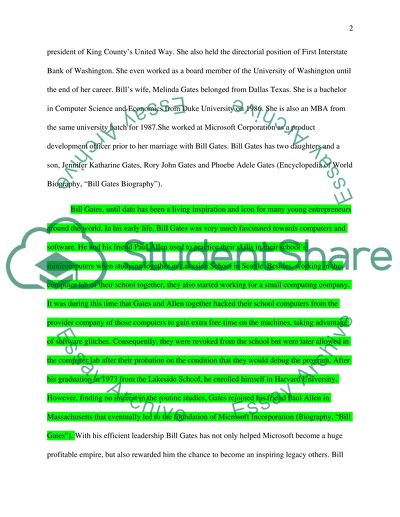bill gates research paper
