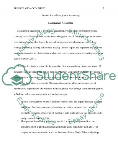 SLP 1- Introduction to Managerial Accounting essay example