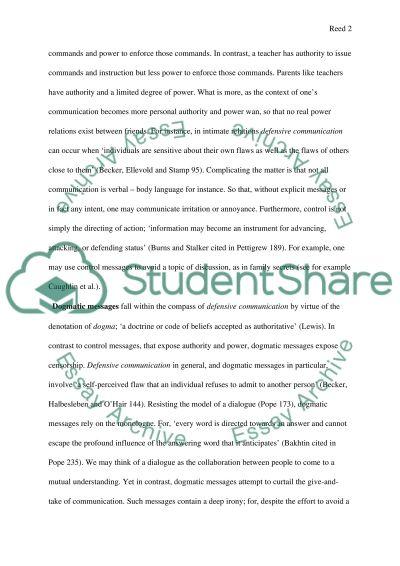 Defensive Communication essay example