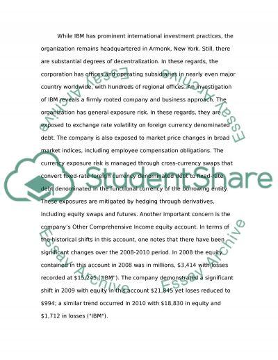 International finance: IBM essay example