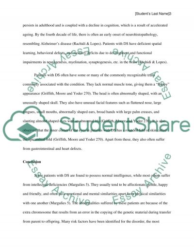 down syndrome essay example topics and well written essays  down syndrome essay example text preview
