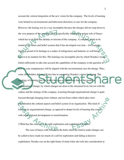 Managing Organisation Change Essay Example | Topics and Well
