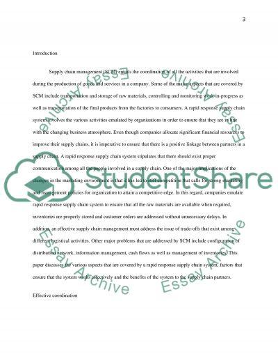 Supply Chain Analysis essay example