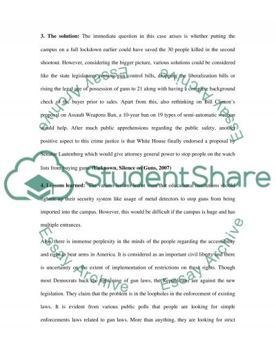 Security in Educational Institutions essay example