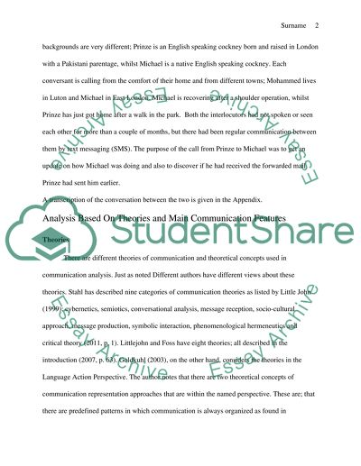 communication and culture essay