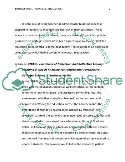 Professional Rounds in Education (Resources 7-12)