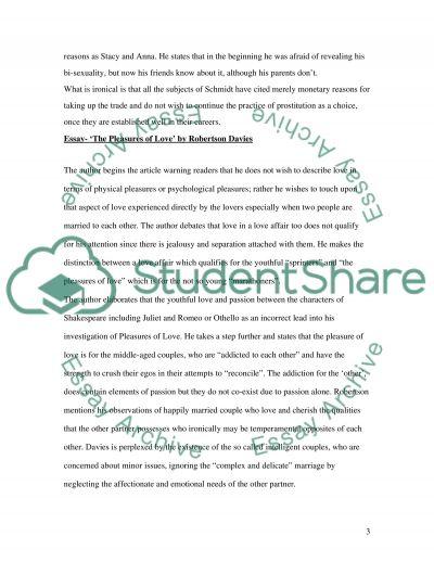 Life essay example