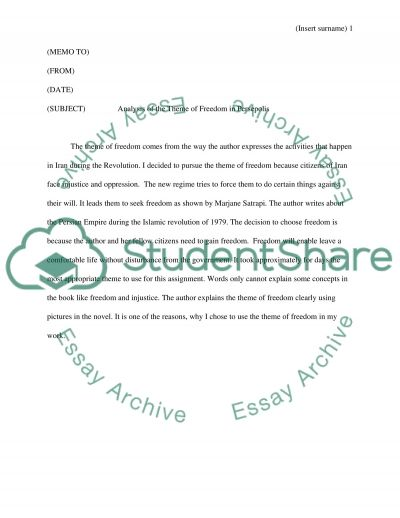 Persepolis essay example