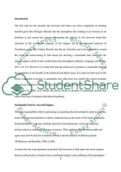 Sustainable Aviation essay example
