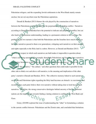 Solving the Israel-Palestine Conflict essay example
