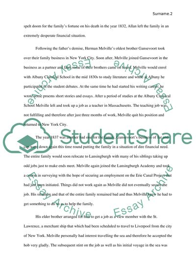 Herman Melville Research Paper Example | Topics and Well