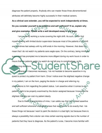 Clinical Care Extender Essay example