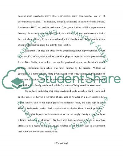 Classficatio essay example