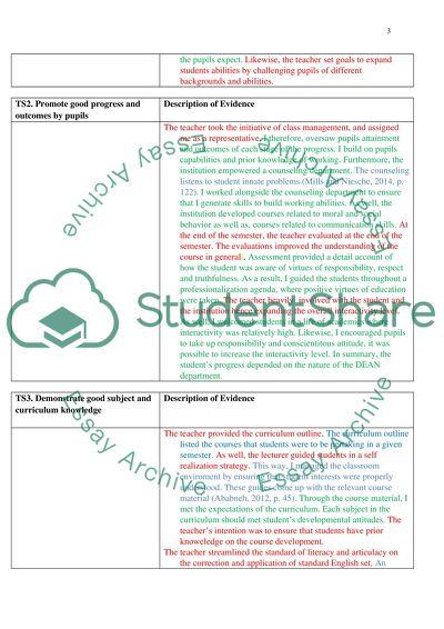 A ritical Analysis of UK Teaching Standard