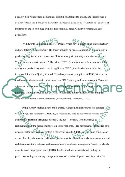 Central Engineering and Research Group (CERG) essay example