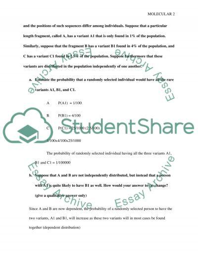 Molecular essay example