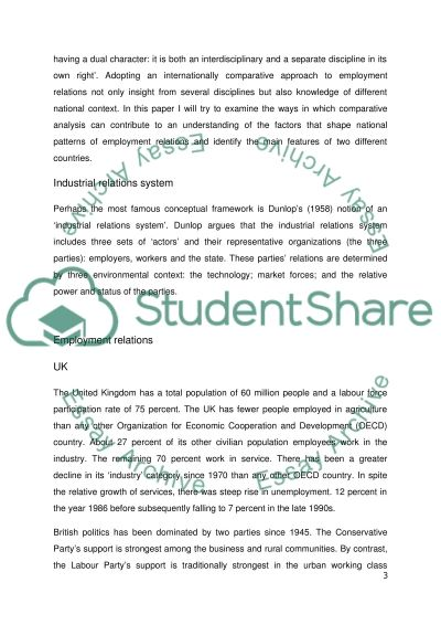 Industrial Relations in UK and Japan essay example