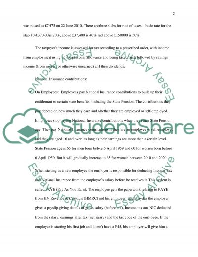 Taxation essay example
