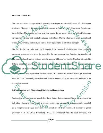 Case study social work essay