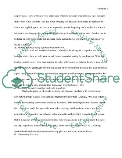Getting from college to career Essay example