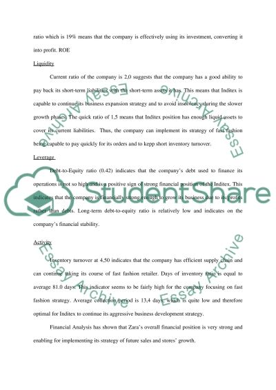 Case Study- Company Situation (Financial Analysis & SWOT Analysis only) essay example