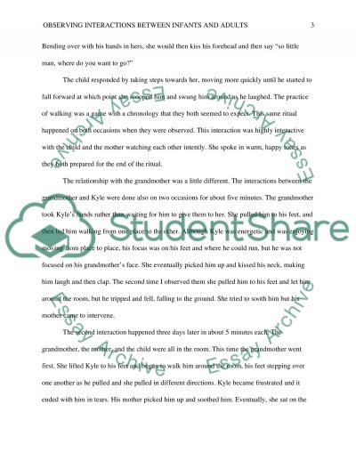 Observations and child interactions essay example
