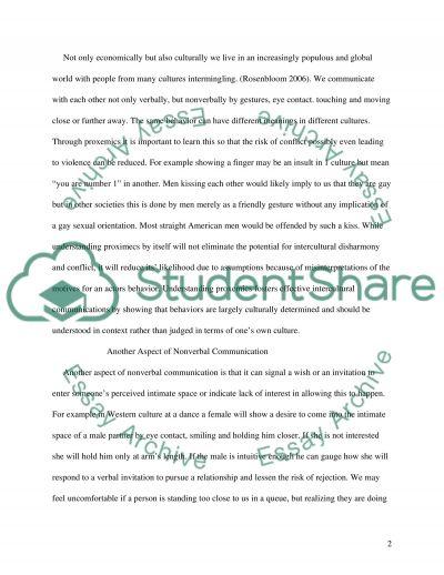 Proxemics Sociology Essay