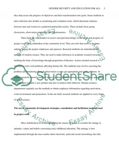Gender Security and Education for All essay example