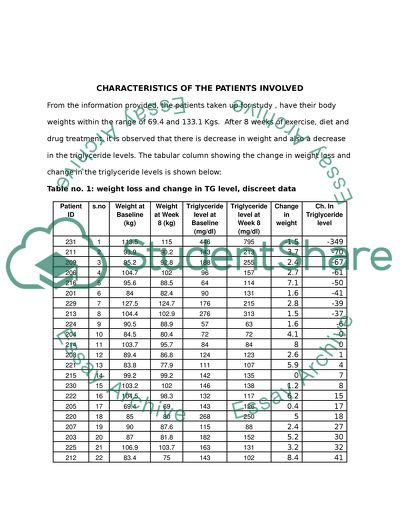 Mathematics A: Statistics Coursework Assignment
