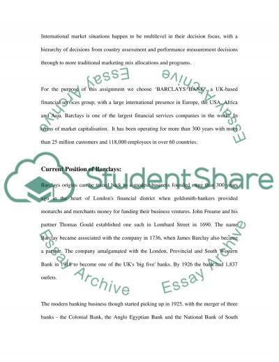 International Marketing essay example