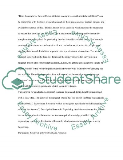 Discussion Essay - Research Proposal