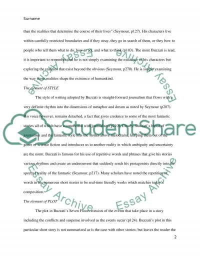 An Essay On Environmental Pollution Seven Floors By Dino Buzzati Short Story Essay Reflection Paper Examples also Perfect Essay Format Seven Floors By Dino Buzzati Short Story Essay Persuasive Essay School Uniforms