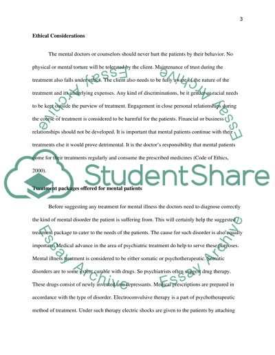 Essay on Mental Health