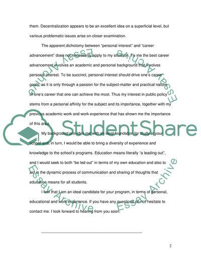 Personal statement Personal Statement