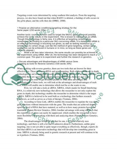Genetics essay example
