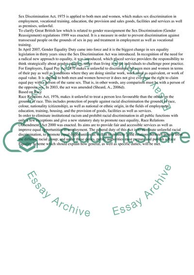 Equality and Diversity Bachelor Essay