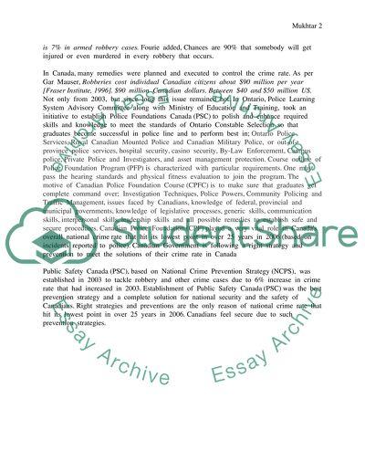 robbery essay example
