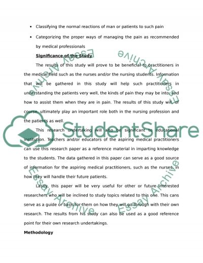 Pain Management essay example