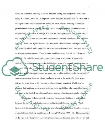 School Uniforms are Necessary in Todays World essay example