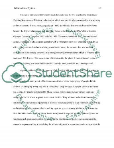 PA Design Report essay example